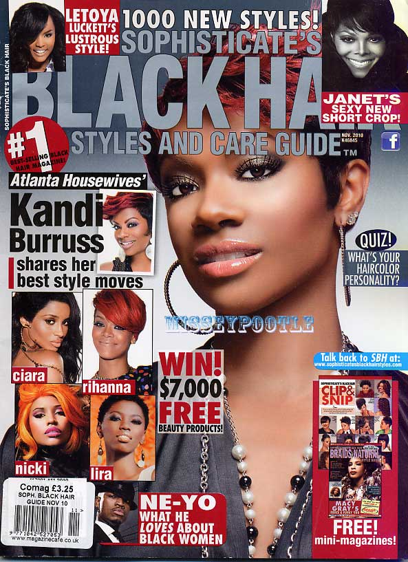 SOPHISTICATES BLACK HAIR STYLES MAGAZINE November 2010